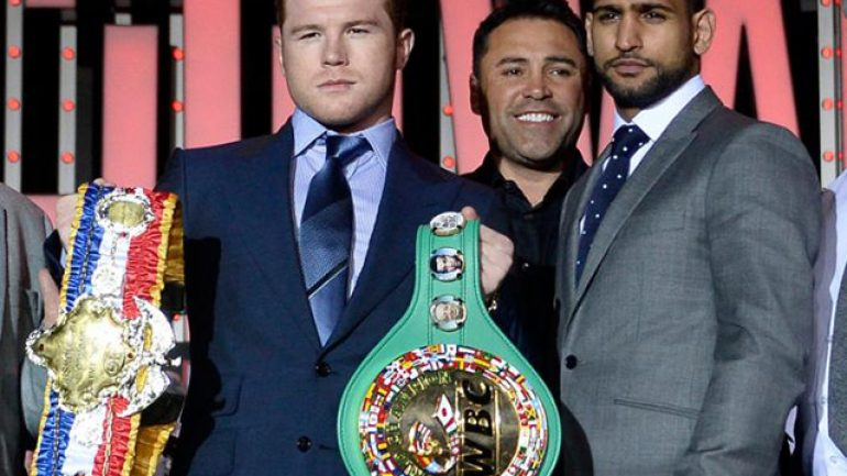 Golden Boy will present free boxing the night before Canelo-Khan