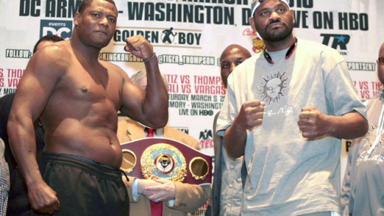 Luis Ortiz-Tony Thompson weigh-in results and photos
