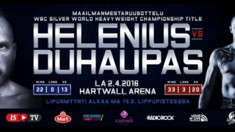 Robert Helenius to face Johann Duhaupas on Saturday