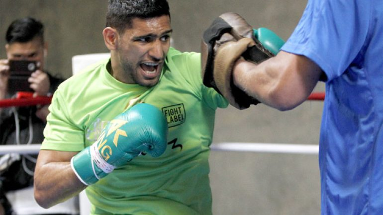Photo gallery: Amir Khan workout
