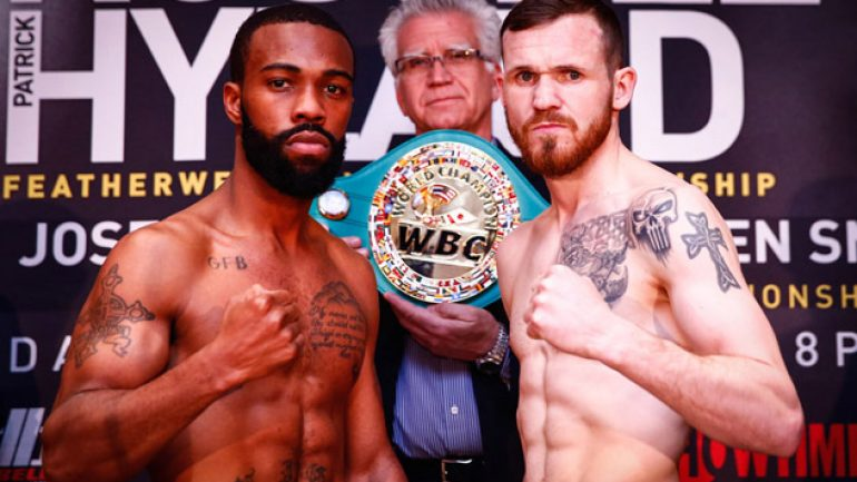 Russell-Hyland, Pedraza-Smith weigh-in results and photos