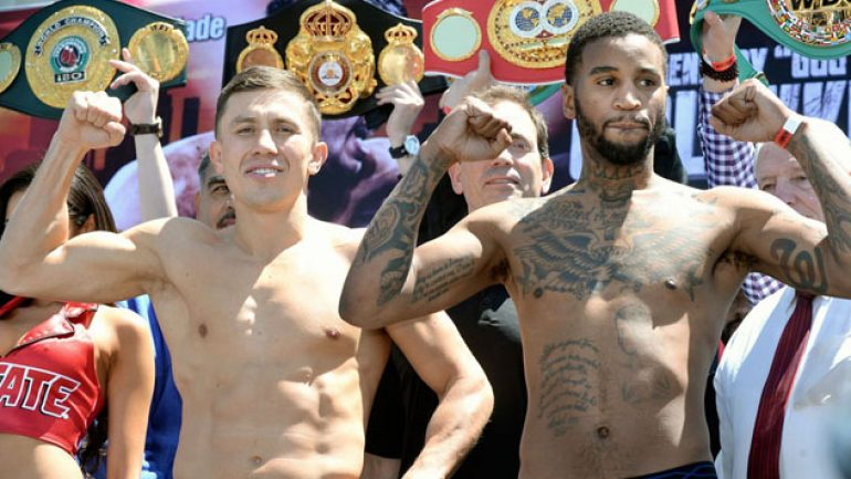 Photo gallery: Golovkin-Wade, Gonzalez-Arroyo weigh-in