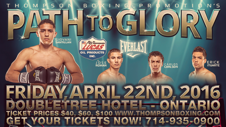 Giovanni Santillan to headline 'Path to Glory' on Friday