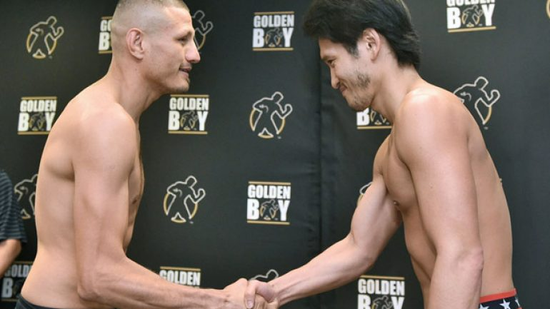 Jesus Soto Karass-Yoshihiro Kamegai weigh-in results and photos
