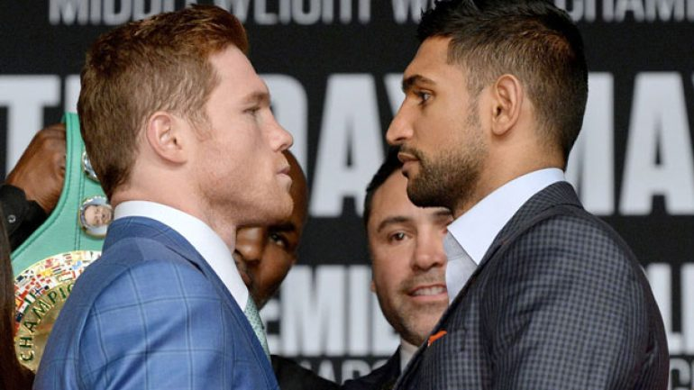Photo gallery: Canelo Alvarez-Amir Khan final press conference