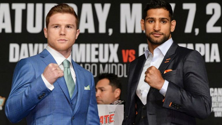 Canelo calm, Khan focused at final press conference