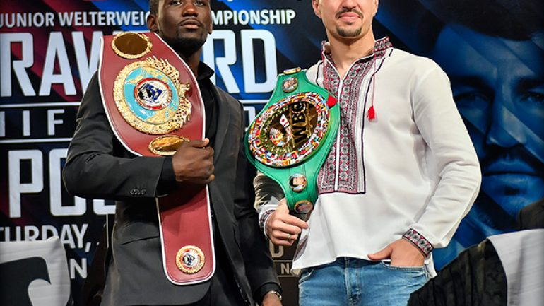 Terence Crawford, Viktor Postol meet at presser for July 23 showdown