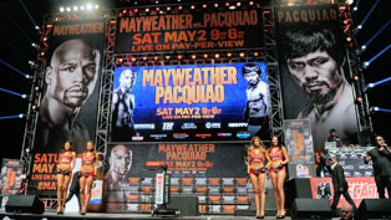 Floyd Mayweather Jr. vs. Manny Pacquiao: Embrace the moment