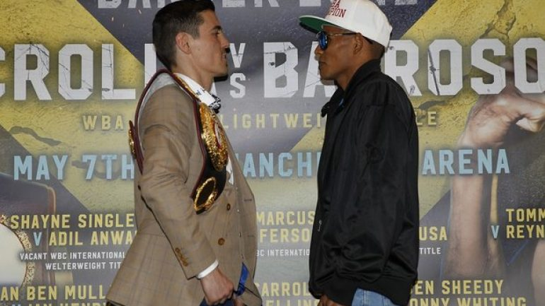 Weigh-in result:  Anthony Crolla 134.5, Ismael Barroso 134.3