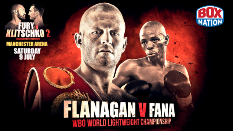 Terry Flanagan to defend title against Mzonke Fana on Fury-Klitschko card