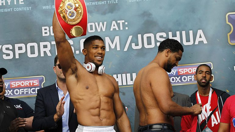 Weigh-in photos: Anthony Joshua-Dominic Breazeale