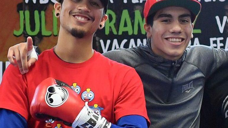 'Chimpa' Gonzalez and Nick Arce all smiles for tonight's StubHub fights