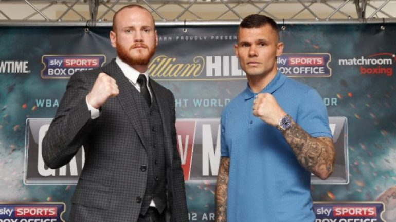 Weigh-in result:  George Groves 167.6, Martin Murray 168.1