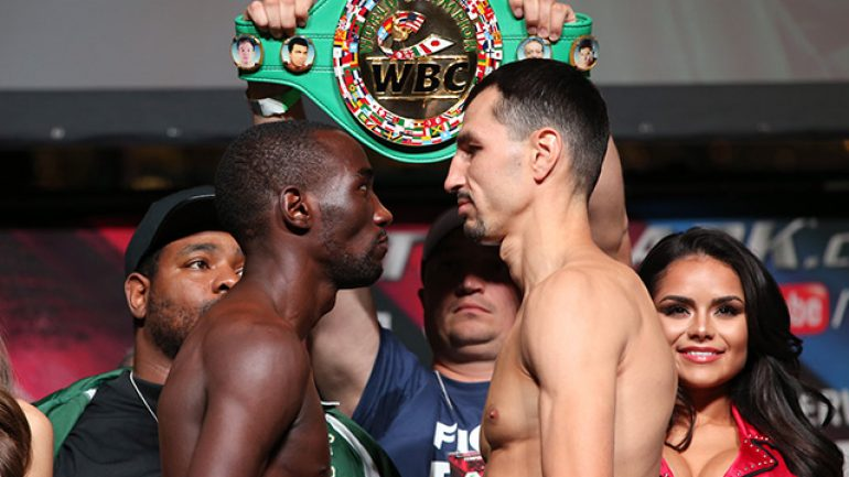 Terence Crawford and Viktor Postol make weight