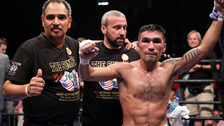 Abel Sanchez discusses Denis Shafikov's win against Jemal Herring
