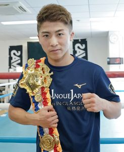 Naoya Inoue with Ring title Ratings crop Fukuda 245x300 - Dougie's Monday Mailbag (Lomachenko-Lopez, Navarrete-Villa)