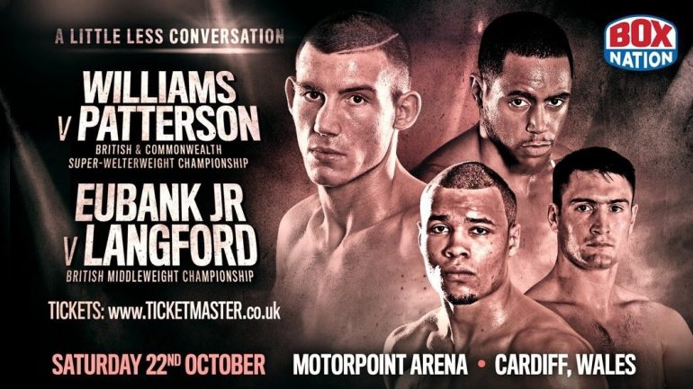 Chris Eubank Jr. faces Tommy Langford on Oct. 22 after GGG talk