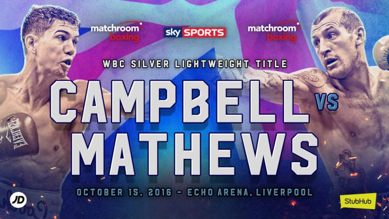 Campbell versus Mathews for British bragging rights at lightweight