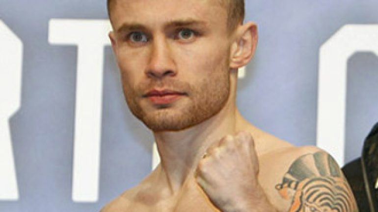 Carl Frampton plans to pick up where he left off in 2016