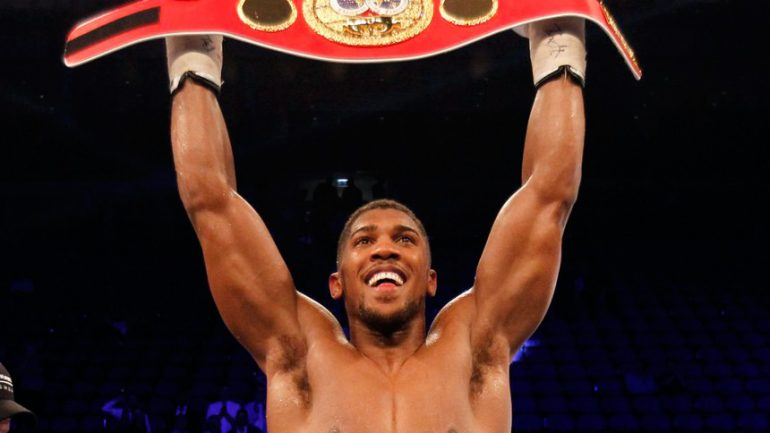 Anthony Joshua U.S. debut being planned for early 2017 in NY or Vegas