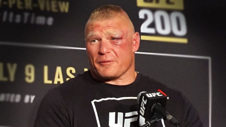 Brock Lesnar at UFC 200 post-fight press conference
