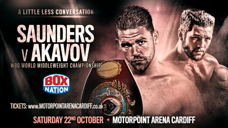 Saunders to defend against Artur Akavov on Oct. 22
