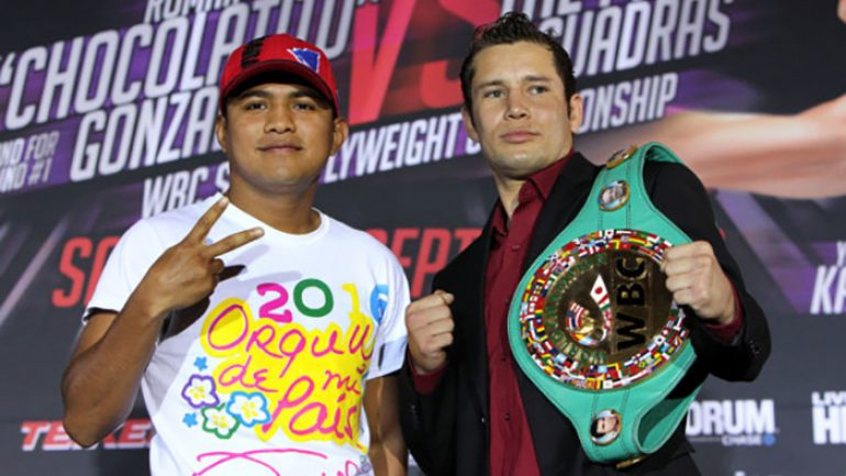 Carlos Cuadras and Roman Gonzalez interviews