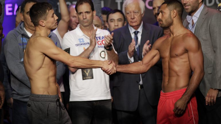 Golovkin makes weight amid health concerns