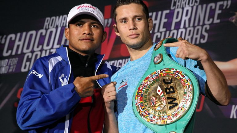 Roman Gonzalez and Carlos Cuadras make weight