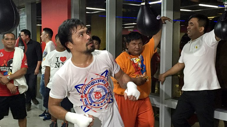 Manny Pacquiao begins training for Jessie Vargas