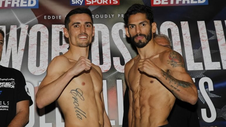 Weigh-in alert: Linares and Crolla both 134.4 pounds