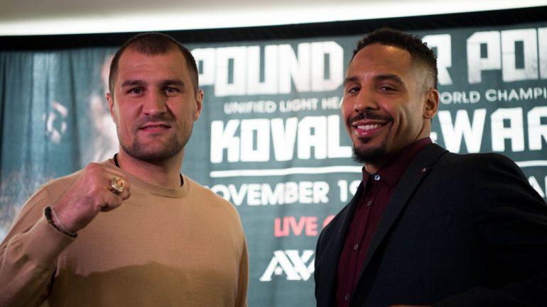 Kovalev upset over apparent snub by Ward