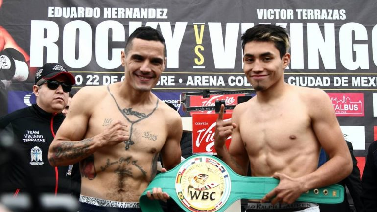 Eduardo Hernandez stops Victor Terrazas on Saturday