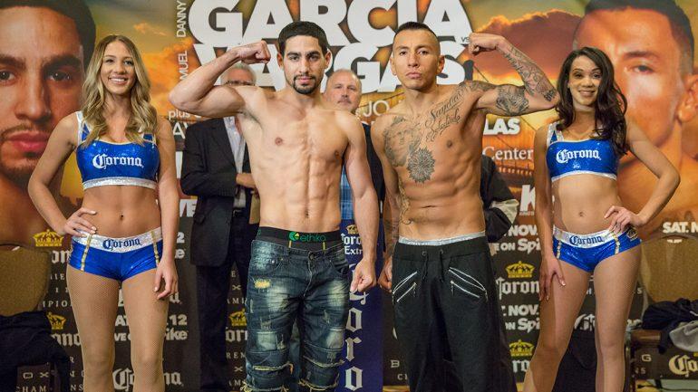 Danny Garcia-Samuel Vargas weigh-in