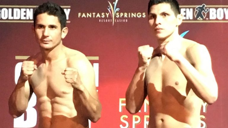 Herrera-Cano final bout sheet with weigh-in results
