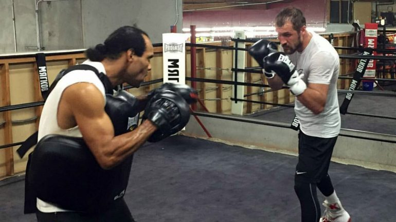 Jackson still training Sergey Kovalev, disputes Hunter's innuendo