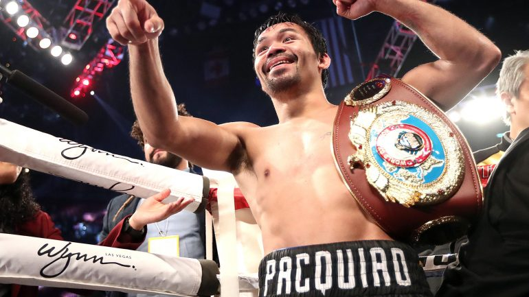 Pacquiao dominates Vargas with Floyd Mayweather Jr. ringside