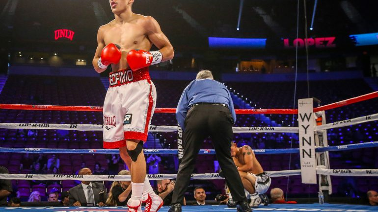 Teofimo Lopez Jr. shows off exciting skills on Conlan undercard