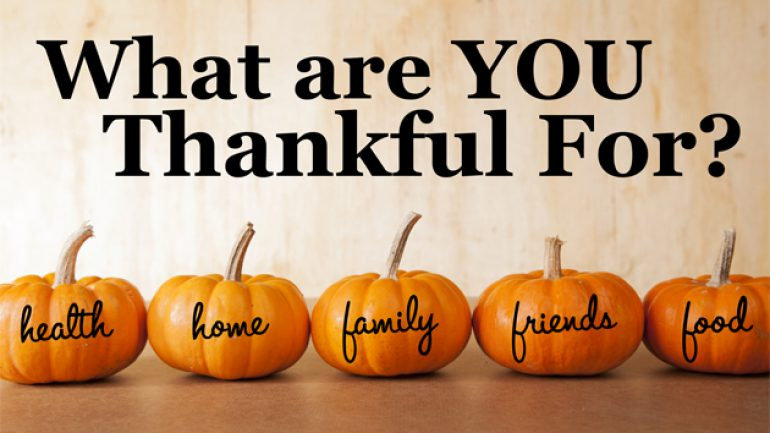 Things for which to be thankful