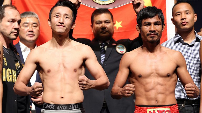 Zou Shiming outpoints Phaprom to win WBO flyweight title