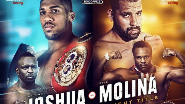 Anthony Joshua smashes Eric Molina, Whyte and Chisora go to war