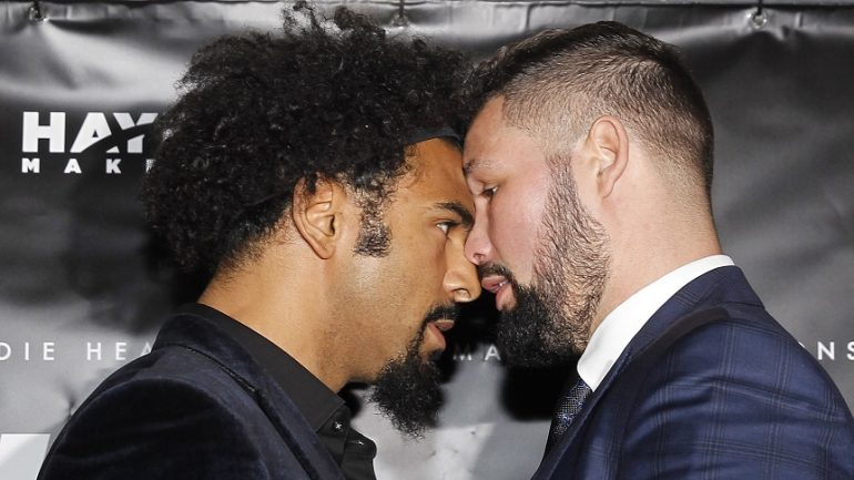 Tony Bellew: 'David Haye is an embarrassment to boxing'