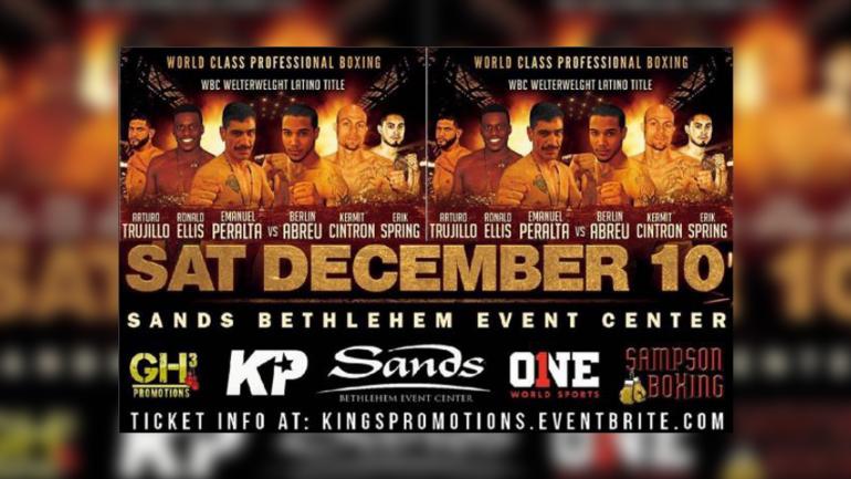 RingTV.com to stream David Peralta vs. Berlin Abreu on Saturday