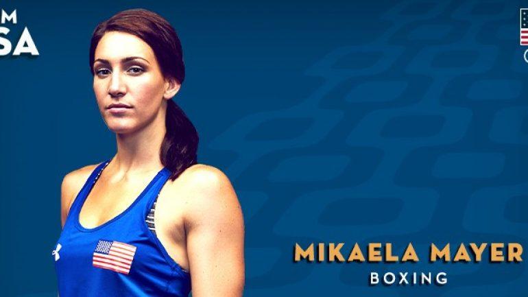 U.S. boxing champ Mikaela Mayer sparring Ronda Rousey