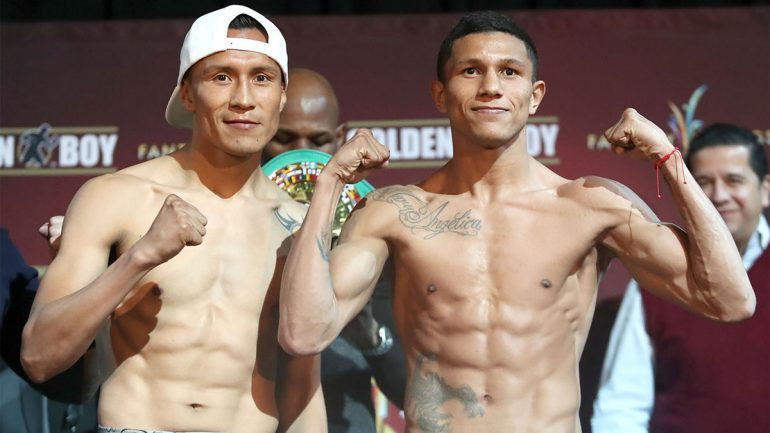 Francisco Vargas-Miguel Berchelt weigh-in