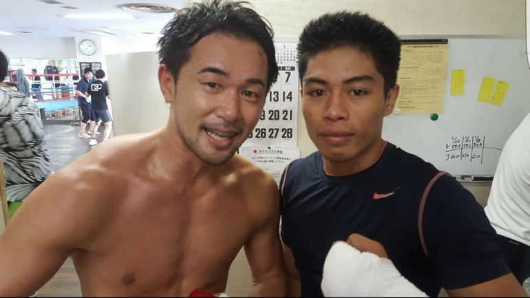Raw Filipino puncher Gaballo gets experience sparring Yamanaka