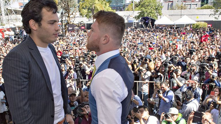 Canelo Alvarez-Julio Cesar Chavez Jr. Mexico City press conference