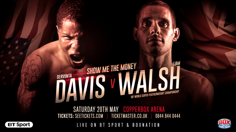 Gervonta Davis-Liam Walsh confirmed for May 20 in London