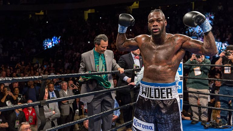 Deontay Wilder is still looking for respect, hopefully not another opponent