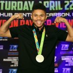 Shakur STevenson SMILES mikey williams toprank 150x150 - Shakur Stevenson finally has an opponent–and it appears a direction, too